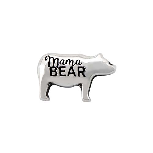 CH6063 Silver Momma Bear Charm V1 copy